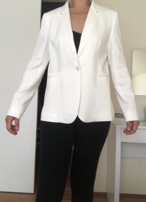 Massimo Dutti Blazer de esmoquin blanco