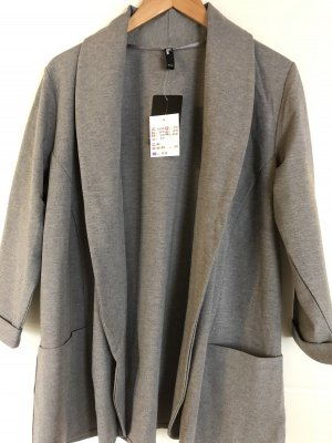 maxi blue. Blazer sweat grigio
