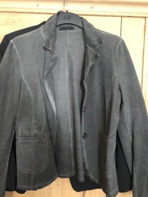 0039 Italy Jersey blazer grijs-donkergrijs