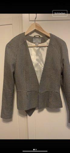 H&M Blazer en tweed noir-crème