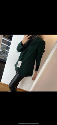 Zara Basic Boyfriend Blazer dark green