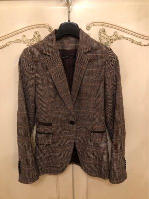 Zara Basic Blazer Tweed marrón