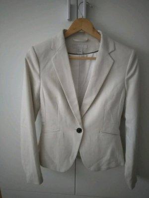 H&M Basic Blazer smoking beige chiaro Poliestere