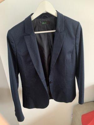 Benetton Blazer in jeans blu scuro