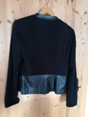 Tom Tailor Leather Blazer black