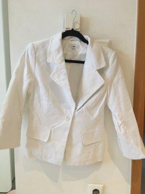 H&M Blazer in jersey bianco