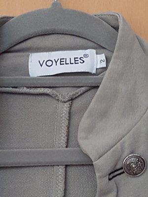 Voyelles Blazer de tela de sudadera caqui