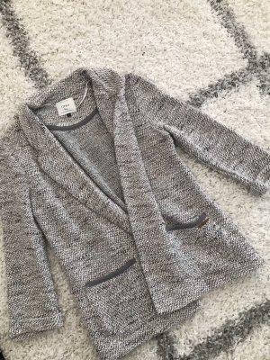 Only Blazer in maglia grigio chiaro-nero
