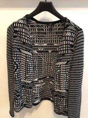 H&M Blazer in maglia nero-bianco