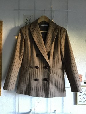 Nakd Tweed Blazer grey brown-light brown polyester