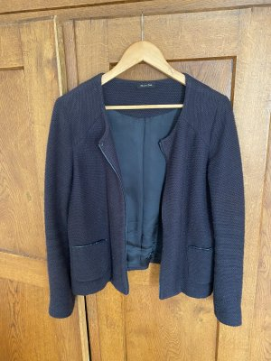 Massimo Dutti Knitted Blazer black