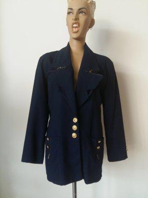 Blazer in lana blu scuro Lana