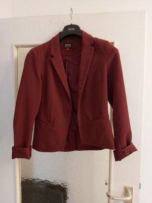 Only Blazer in jersey carminio-bordeaux