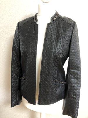 Promod Leather Blazer black