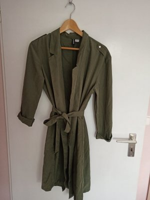 HM Wraparound Jacket green grey-khaki polyester