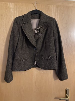 Yessica Tweed blazer donkerbruin