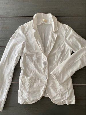 V Milano Blazer sweat blanc coton