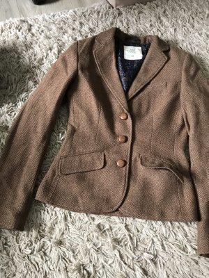H&M Blazer Tweed marrón-marrón oscuro