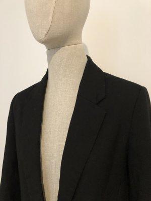 Bershka Blazer largo negro