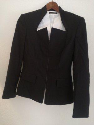Tweed blazer zwart