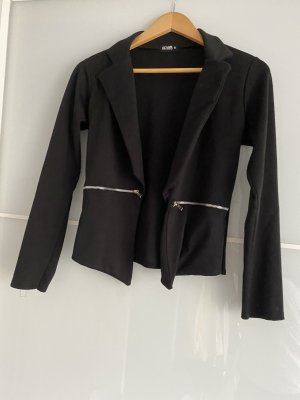 holly's Knitted Blazer black