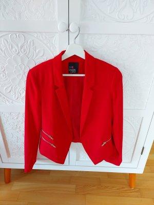 Even & Odd Blazer corto rosso Poliestere