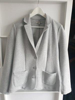 Comma Blazer de tela de sudadera gris claro