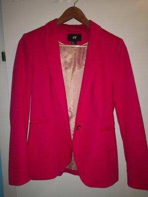 H&M Blazer sweat rouge framboise