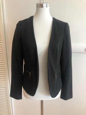 Promod Jersey blazer zwart-goud