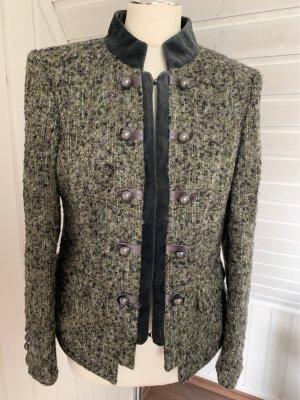 ae elegance Tweed Blazer green grey