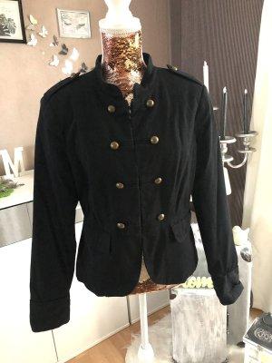 H&M Blazer de tela de sudadera negro