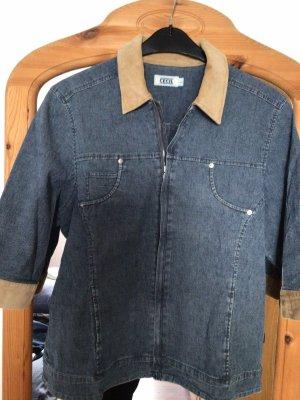 Cecil Blazer in jeans blu acciaio-color cammello
