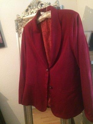 Gina Benotti Jersey Blazer rojo oscuro