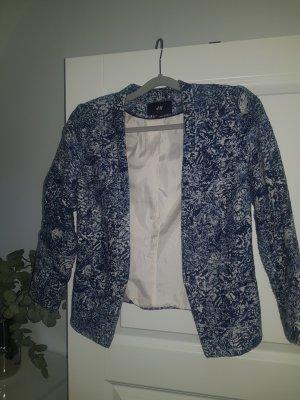 H&M Knitted Blazer steel blue