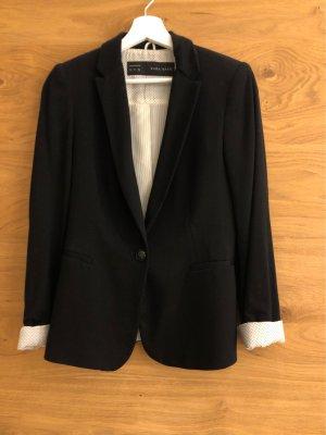 Zara Basic Blazer de tela de sudadera negro