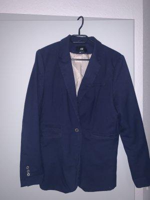H&M Blazer en jersey bleu