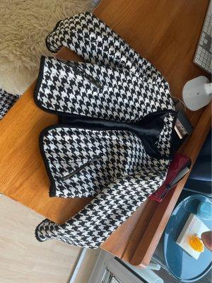 H&M Tweed blazer zwart-wit