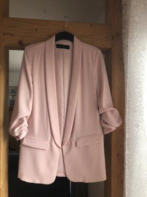 Zara Blazer en jersey vieux rose-rosé