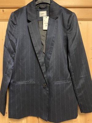 Pimkie Lange blazer donkerblauw-zilver