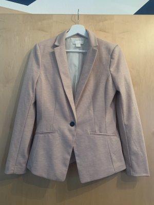 H&M Blazer de tela de sudadera rosa empolvado-lila grisáceo