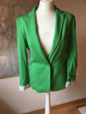 Zara Jersey Blazer green