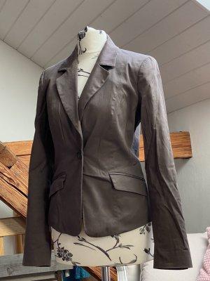 H&M Blazer Boyfriend marrón grisáceo-malva