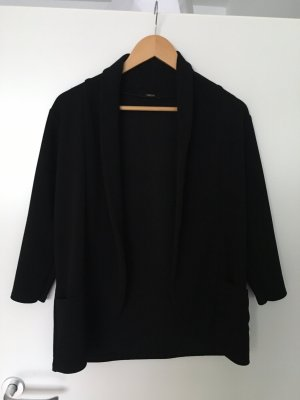 Blazer de tela de sudadera negro