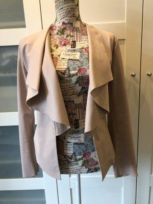 Zara Basic Blazer in pelle rosa chiaro
