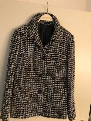 0039 Italy Blazer en laine bleu foncé-gris clair
