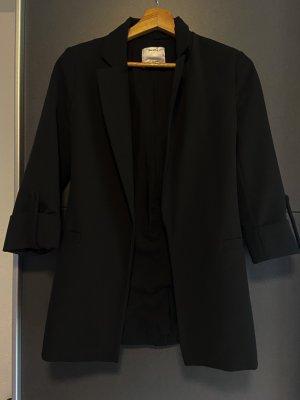 Bershka Klassischer Blazer zwart