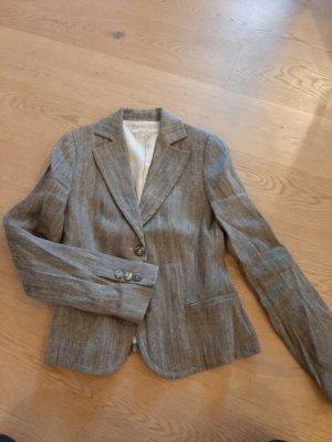 Zara Blazer Tweed negro-crema