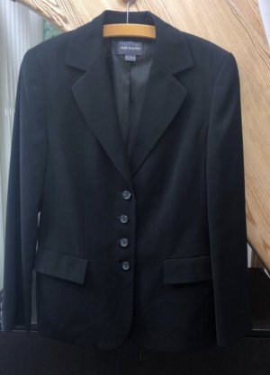 Adagio Blazer de lana negro