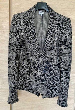 Armani Collezioni Blazer en laine beige-noir
