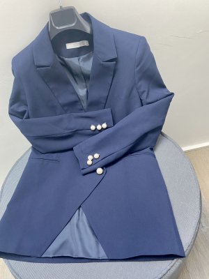 Blazer ASOS Gr 34 Xs S Blau Perlen business look damen office